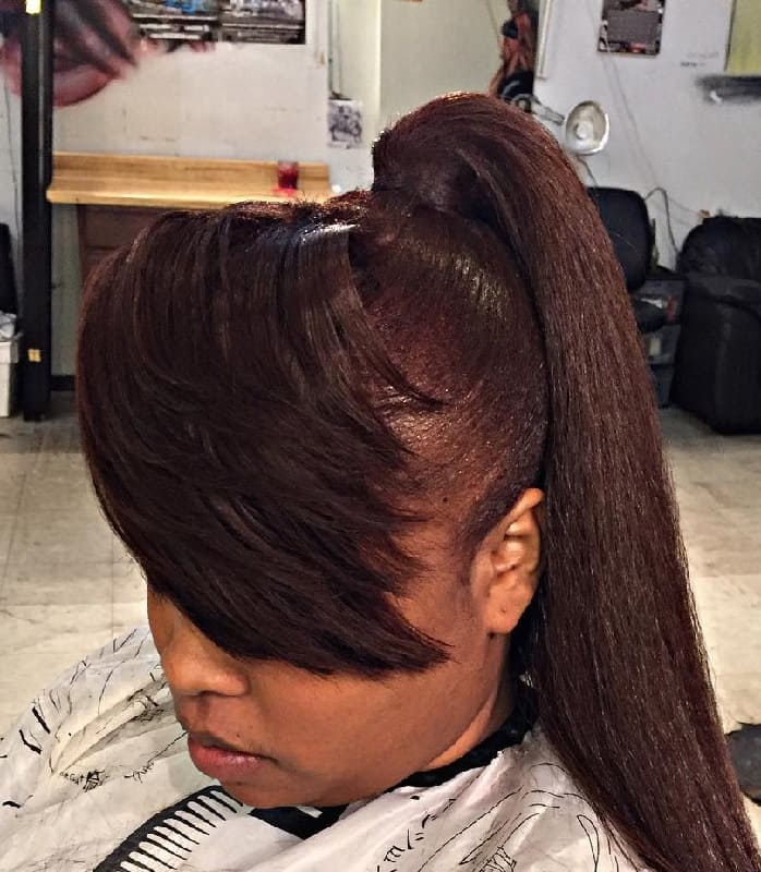 Ponytail with Side Bangs
