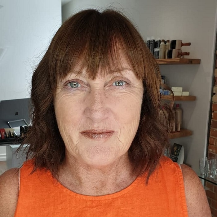 Short Hair with Bangs for Square Face