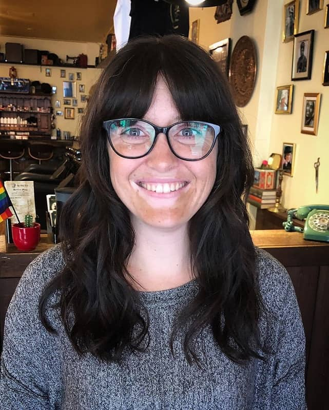 Curtain Bangs with Glasses