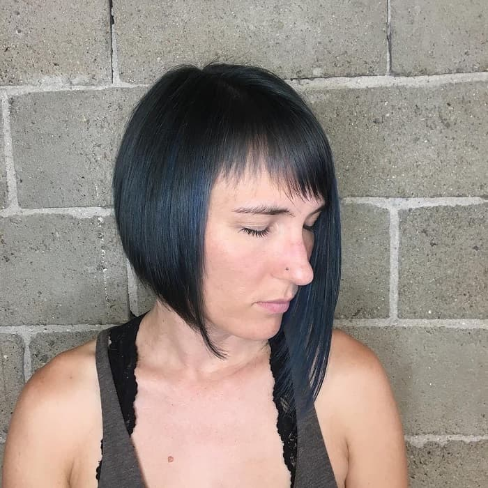 Short Asymmetrical Bob with Bangs