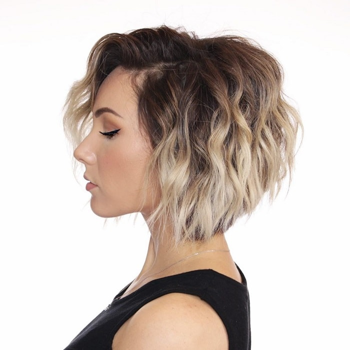 Short Ombre Bob with Bangs