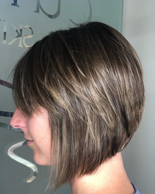 Stacked bob haircuts with bangs