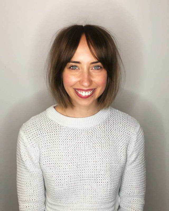 Curtain Bangs for Short Hair