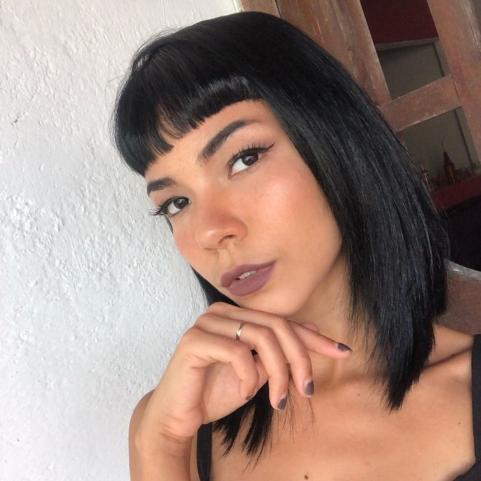 Long bob with bangs