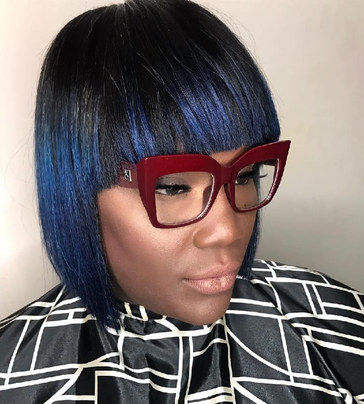 Short Bob with Bangs Sew In