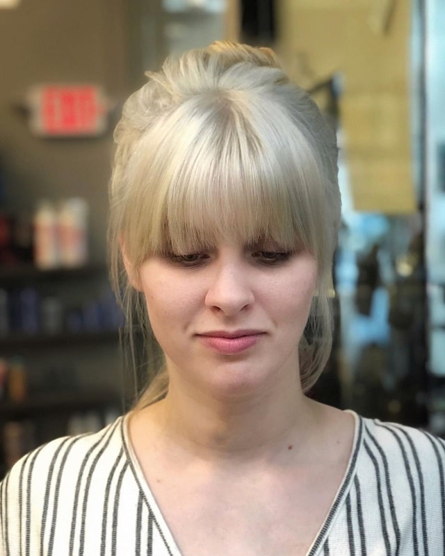 Long Hair Updo with Bangs