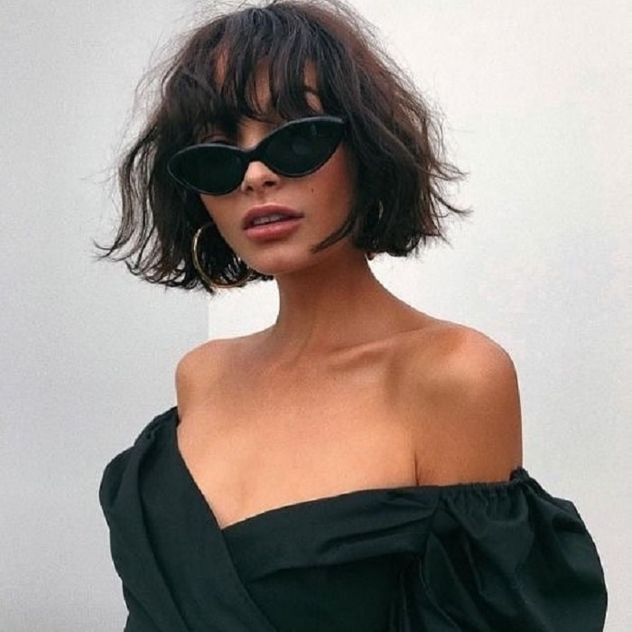 Short Messy Hairstyles with Bangs