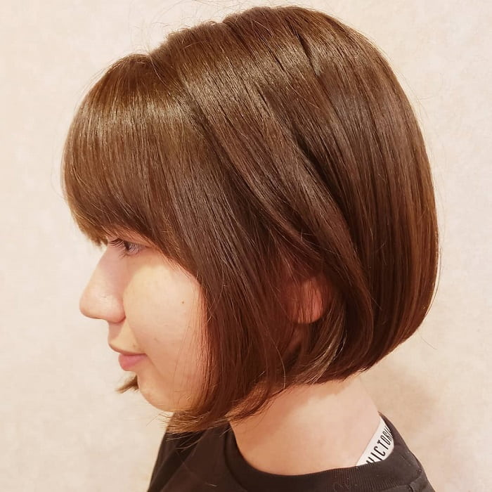 Short Straight Bob with Bangs