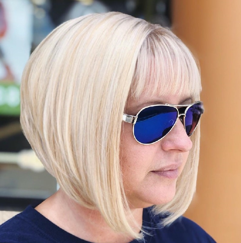 Short Inverted Bob with Bangs