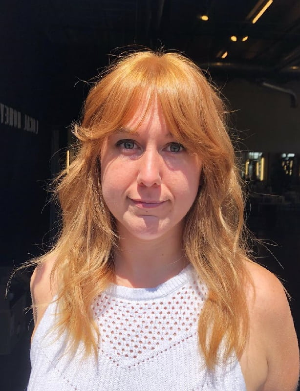 Curtain Bangs On Blonde Hair