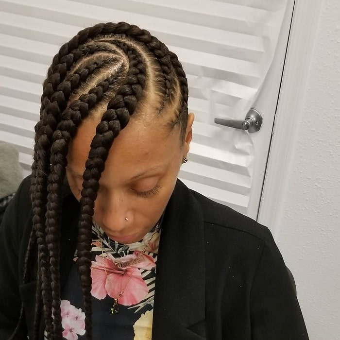 Feed In Braids to the Side