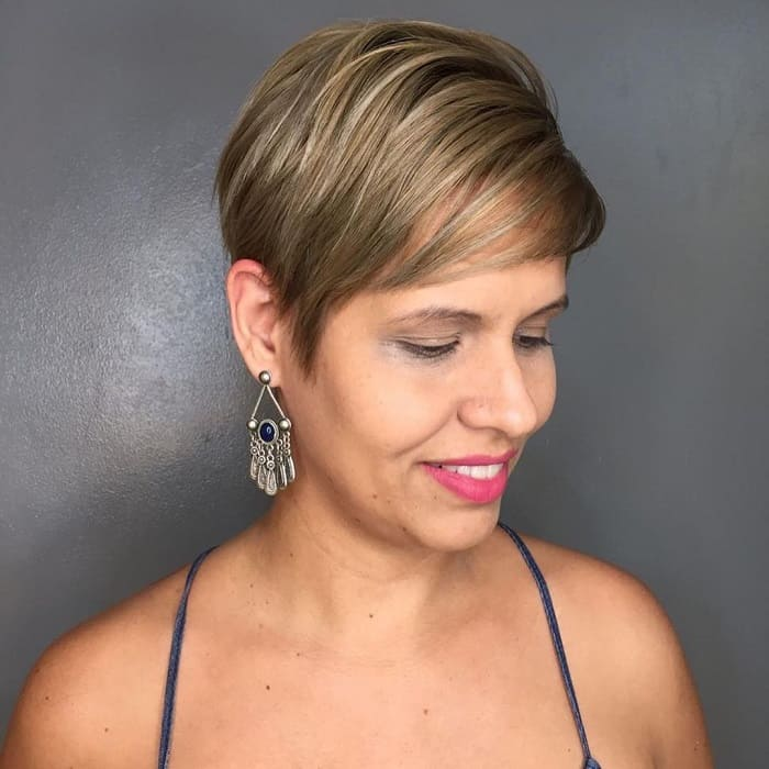 Blonde Highlights On Pixie Hair