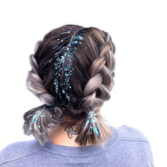Two Braids for Women with Short Hair