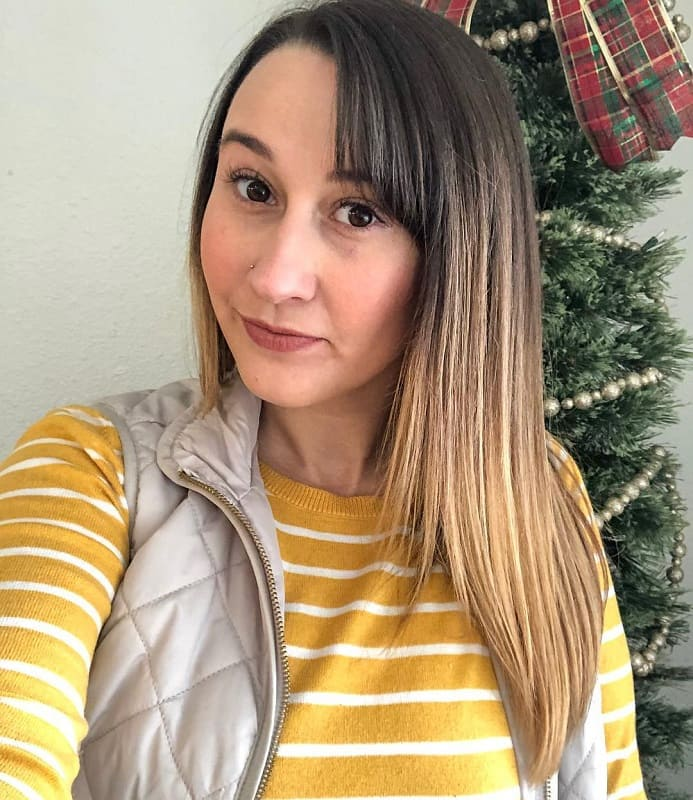 Side Swept Bangs With Straight Hair