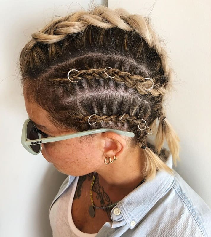 Mohawk Braids for Short Hair