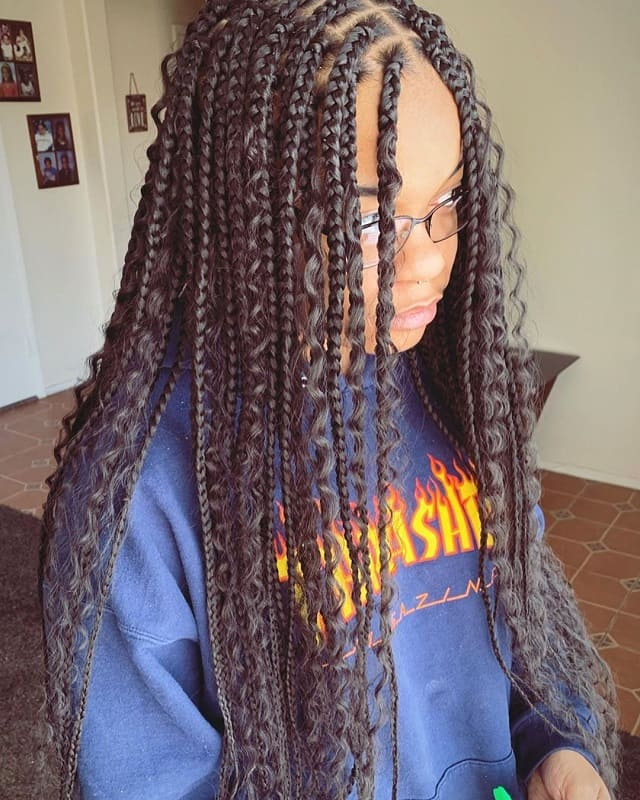 Braids for Long Curly Hair