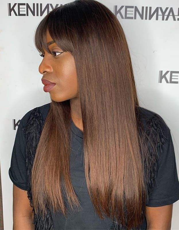 Sew In Straight Hair With Bangs