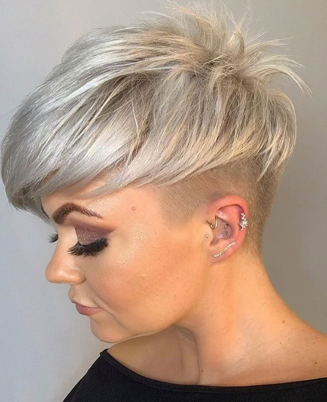 Edgy Pixie Cut for Round Face
