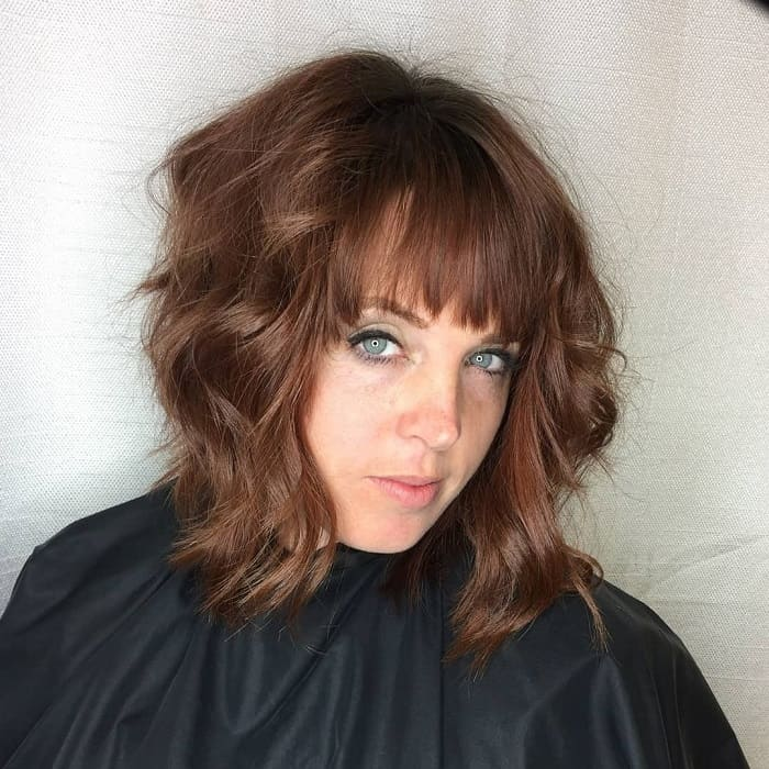 Long Layered Bob With Bangs