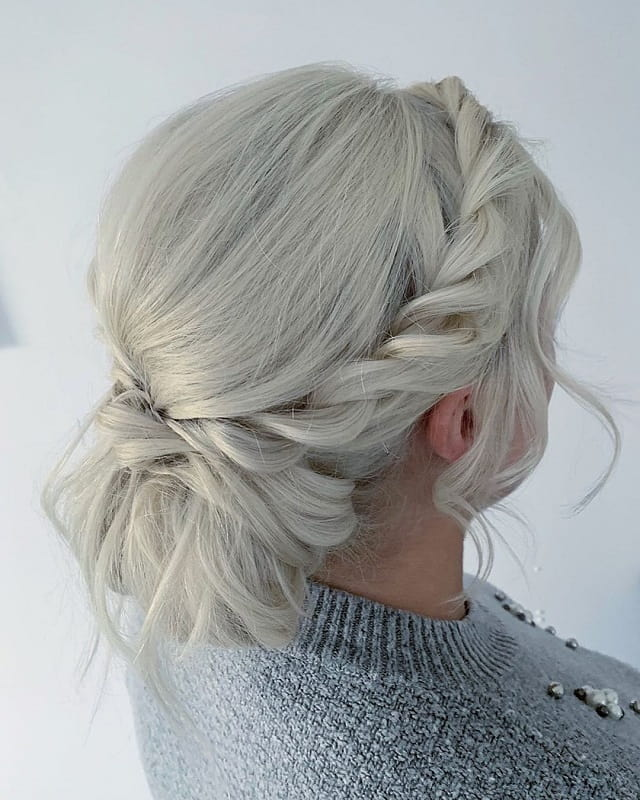 White-Blonde Messy Bun