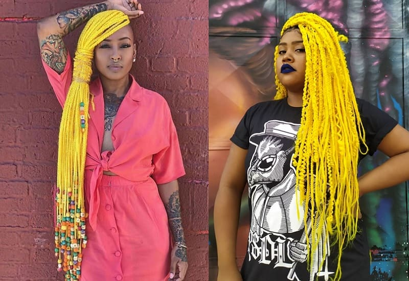 Braids with Colored Weave