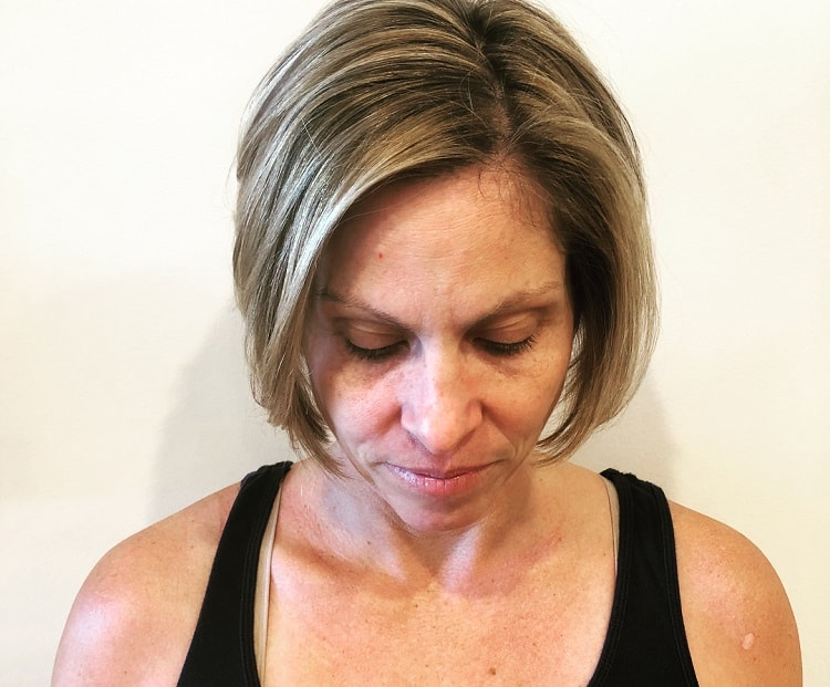 Stacked Bob for Woman Over 50