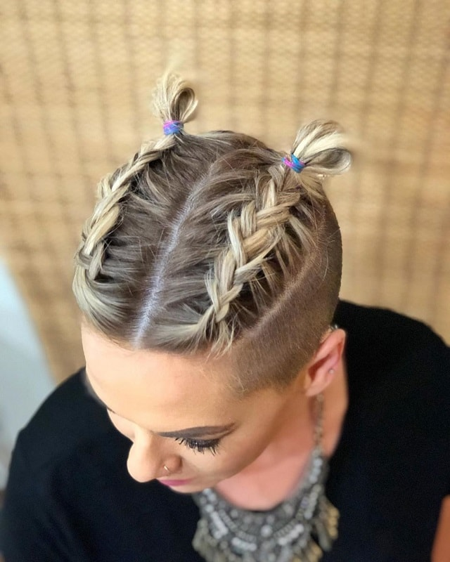 French Braids for Short Hair