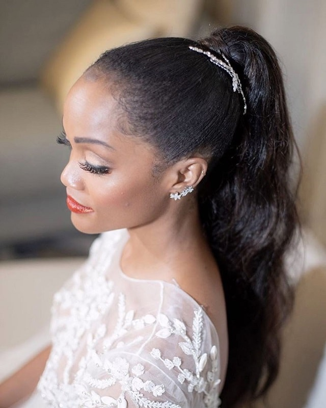 Black Ponytail Hairstyles for Wedding