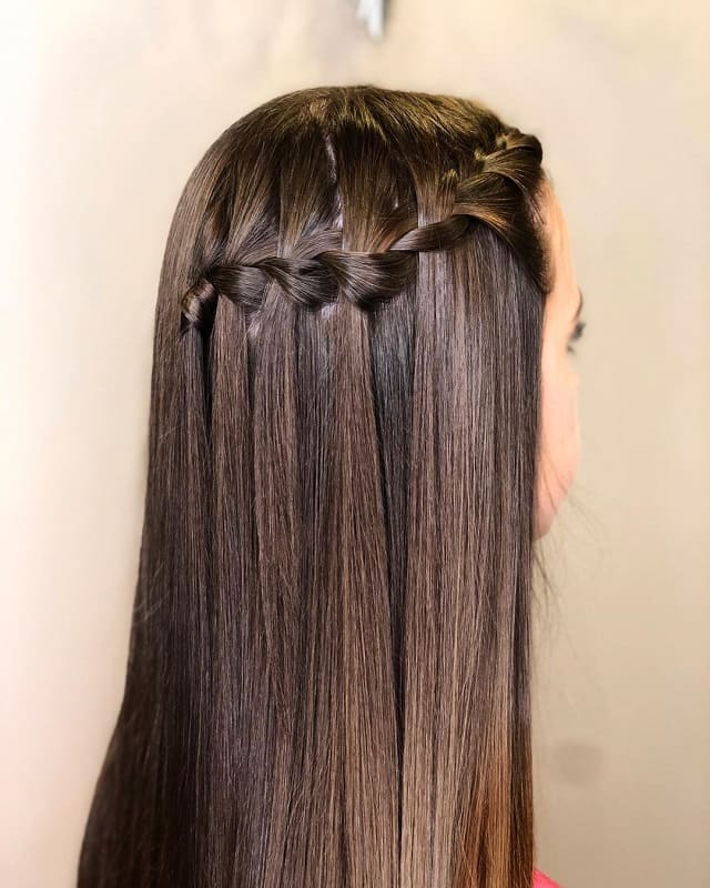 Long Braided Style for Straight Hair