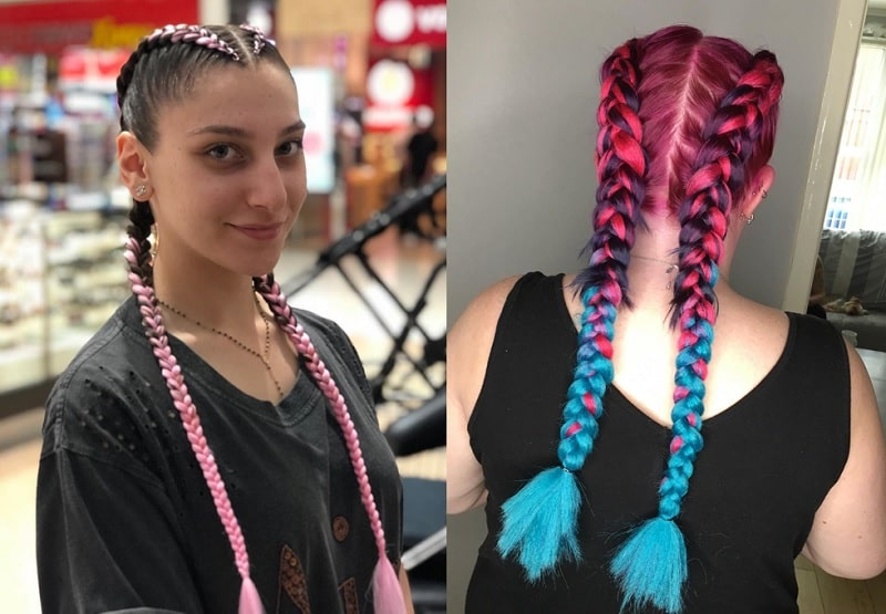 French Braid Hairstyle with Weave