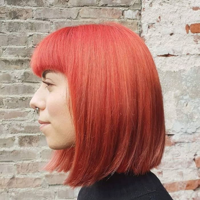 Shoulder Length Straight Hair With Bangs