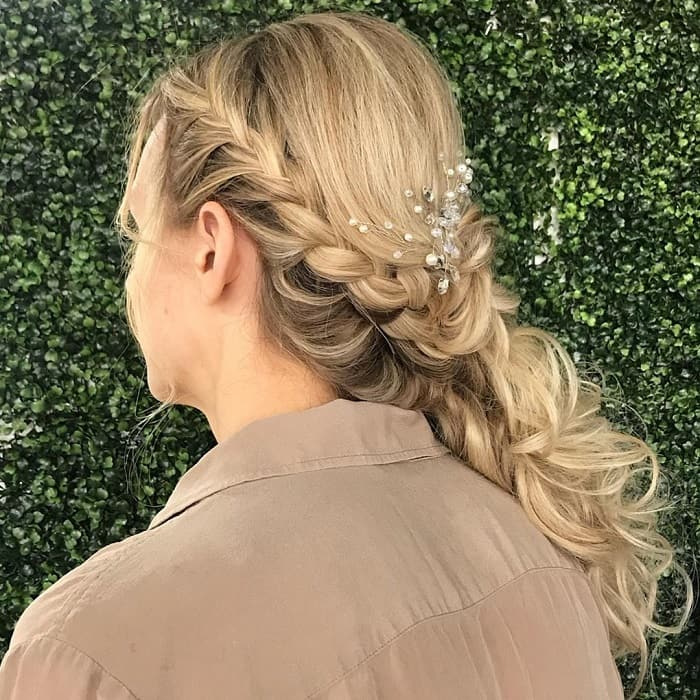 Side French Braided Hair