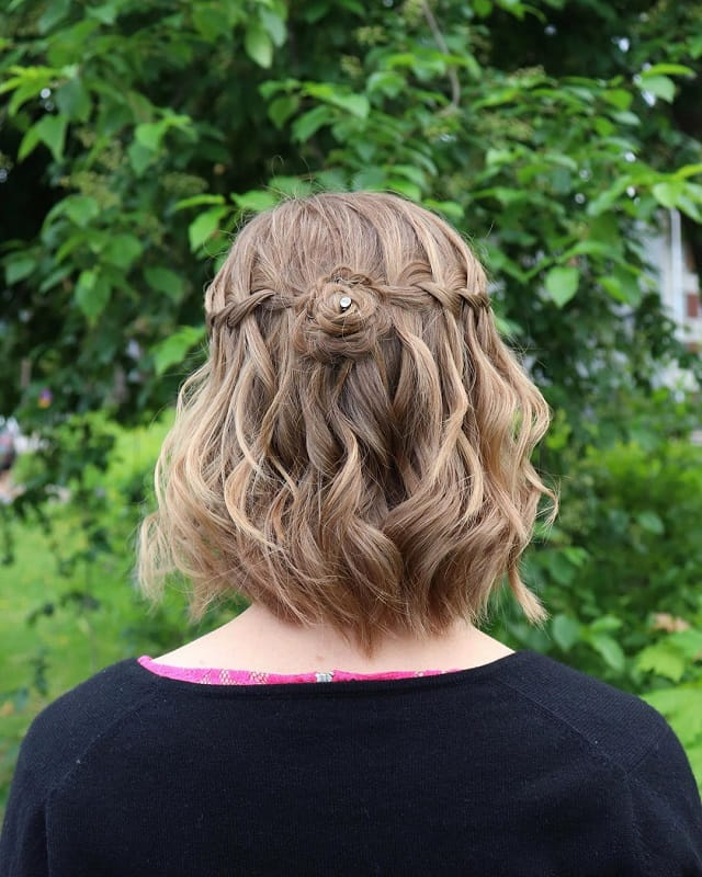 Flower Braids for Short Hair