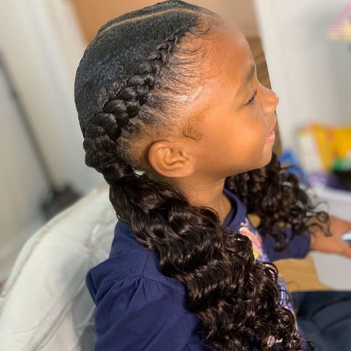 Braid for Kid with Long Hair
