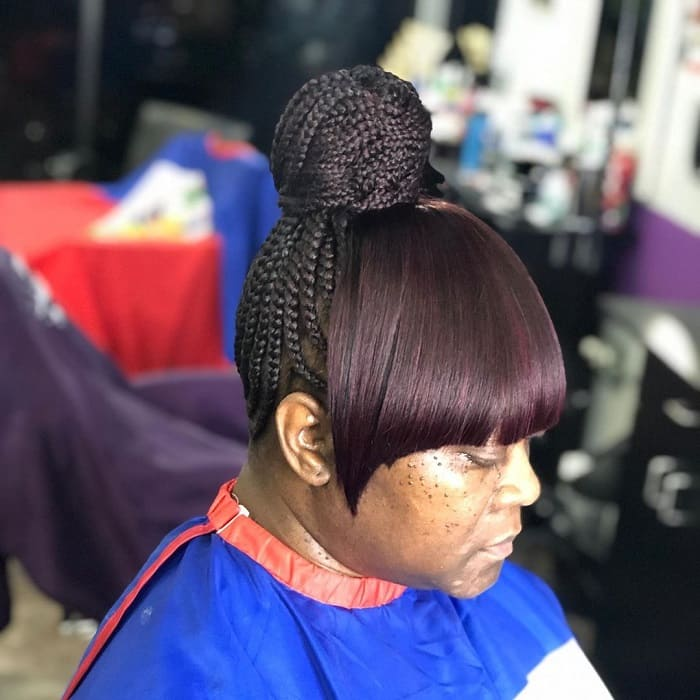 Braid with Bangs for Black Women