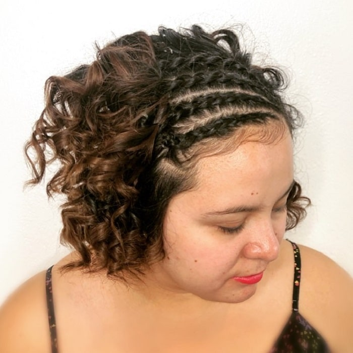 Short Curly Hair Braids
