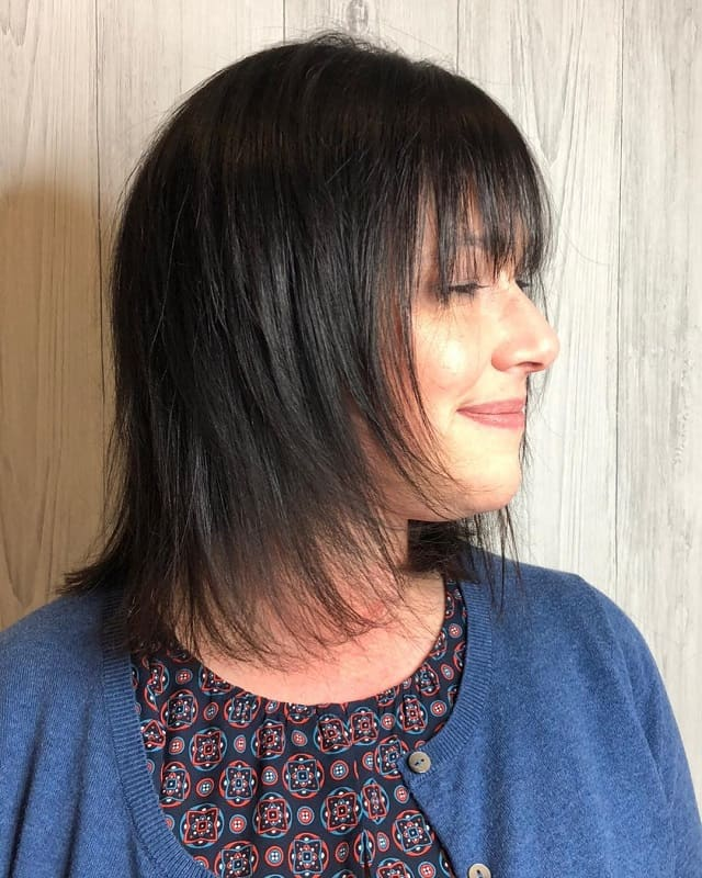 Layered Hairs With Bangs For Medium Fine Hair