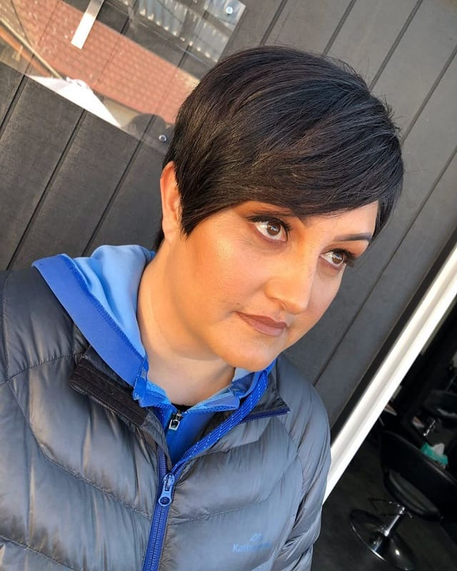 Pixie Cut for Thick Hair and Round Face