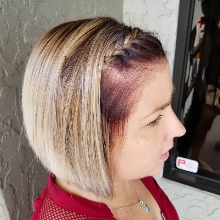 Braided Bangs for Short Hair