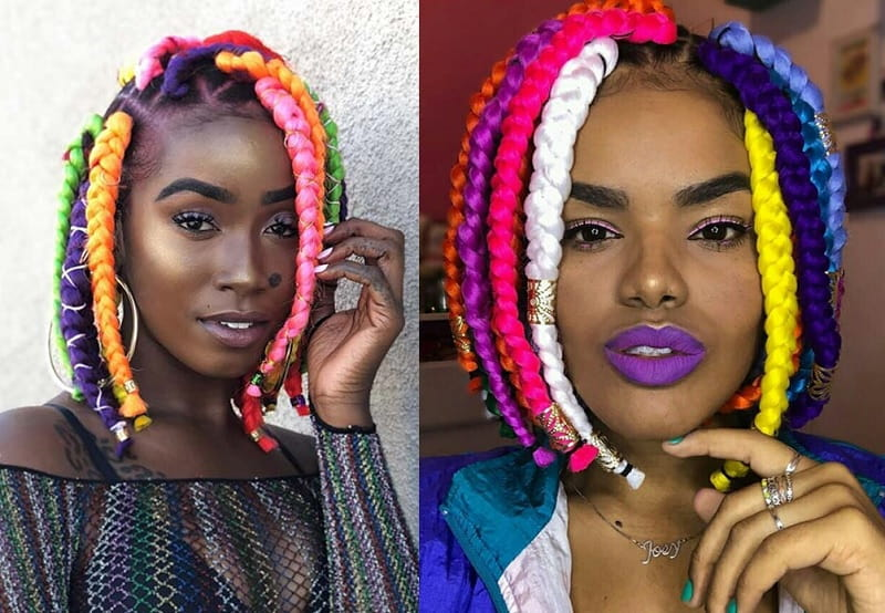 Short Weave Hairstyle with Braid