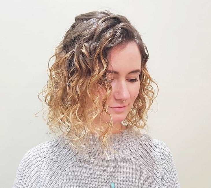 Curly Blonde Ombre
