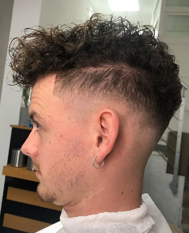 Low Bald Fade for Curly Hair