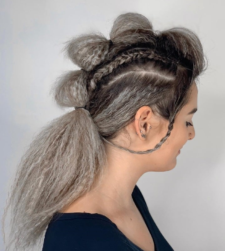 Bubble Mohawk Ponytail