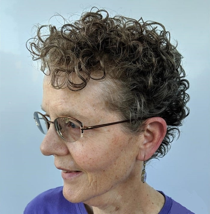 Curly Pixie for Older Women