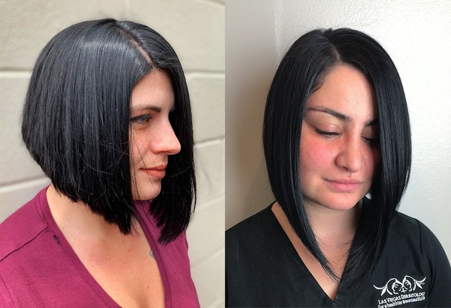 A-Line Bob for Thick hair