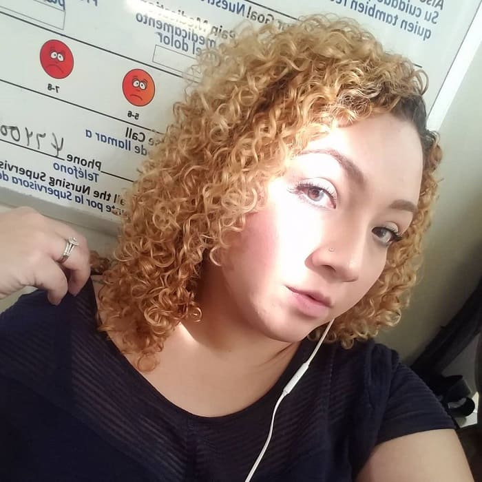 Short Blonde Curly Perm