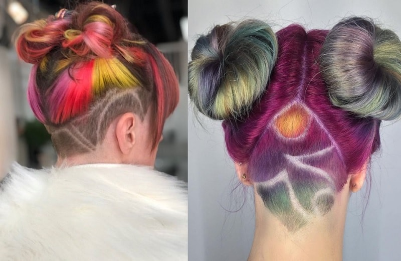 Space Buns with Undercut