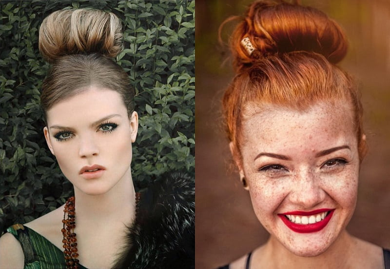 Top Knot on Thick Hair