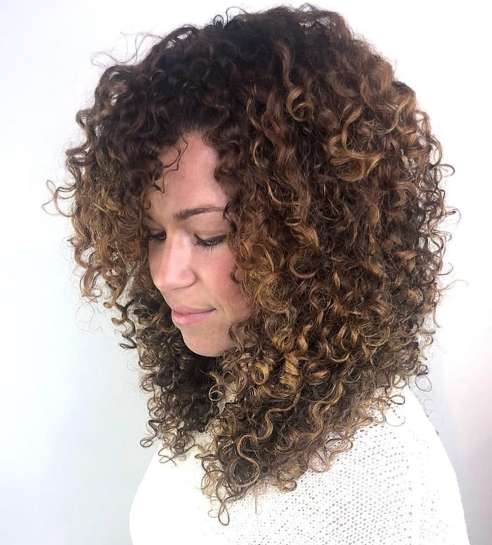 Layered Curly Hair
