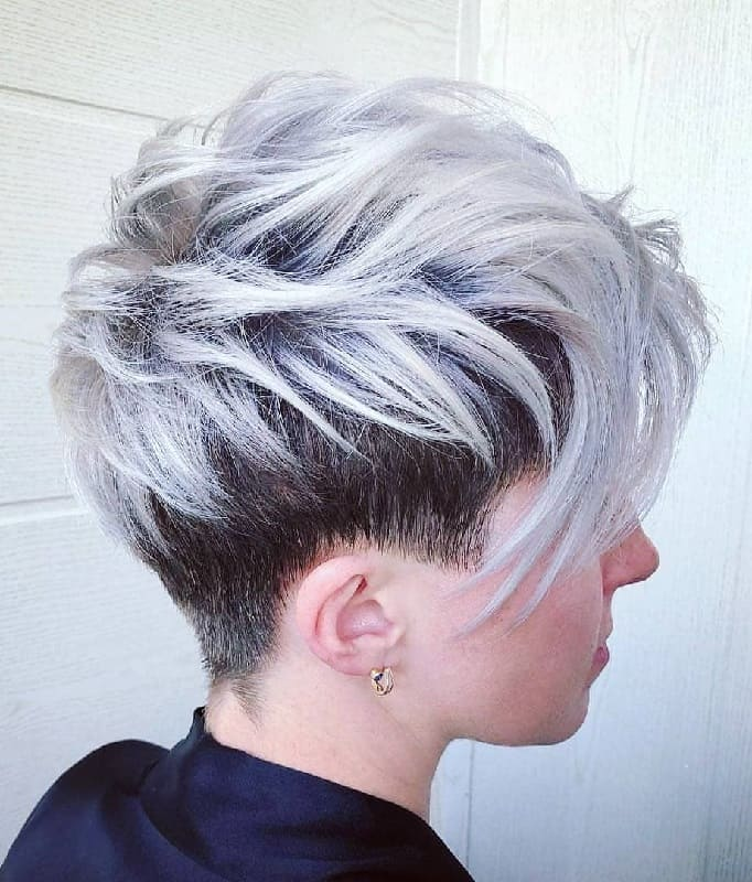 Layered Undercut Pixie